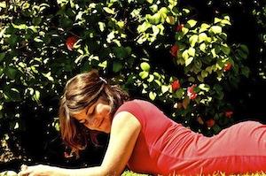 Anna-Kim in her garden in Santiago de Chile