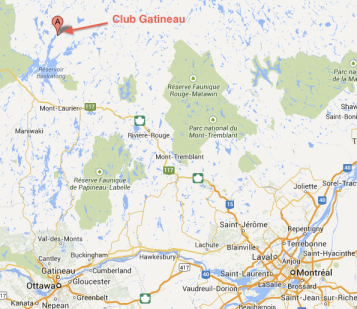 Club Gatineau map
