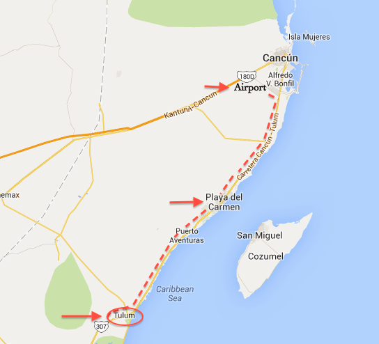How to get to Tulum from Cancún Airport