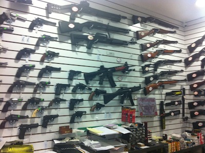 Guns shop in San José, Costa Rica
