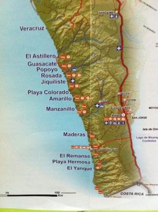 Plages autour de San Juan del Sur