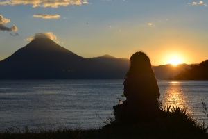 Sunset Volcan San Pedro, Lake Atitlan