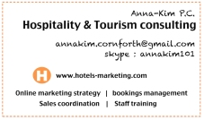 Business card Hotels-marketing