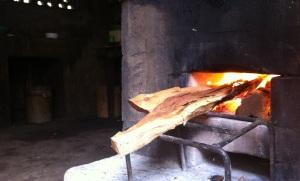 Wood cooking - El Caballito del Mar, Mérida, Ometepe Island, Nicaragua