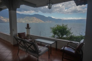 View from Hotel Mikaso's room on lake Atitlan - Guatemala