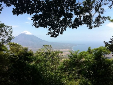 View on Volcano Concepcion from Volcano Maderas, Ometepe Island, Nicaragua