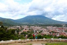 View on Antigua & volcan de Agua, Cerro la cruz