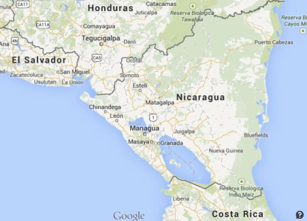Nicaragua's map