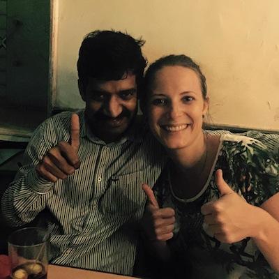 Kumar and Carolina in Mumbai
