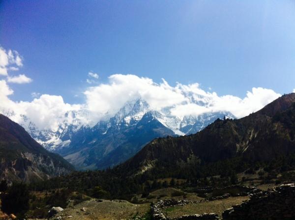 The Annapurna mountains, Himalaya