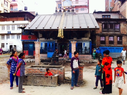 In front of a Temple in Kathmandu
