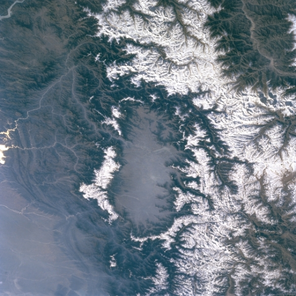 Kashmir Valley view from satellite