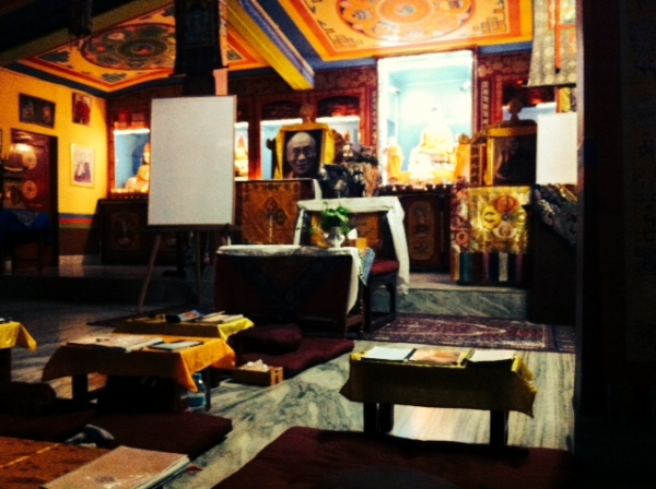 Our meditation and class room at the Root Institute - Bodhgaya
