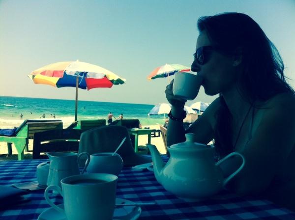 Coffee on the beach - Hikkaduwa - Sri Lanka