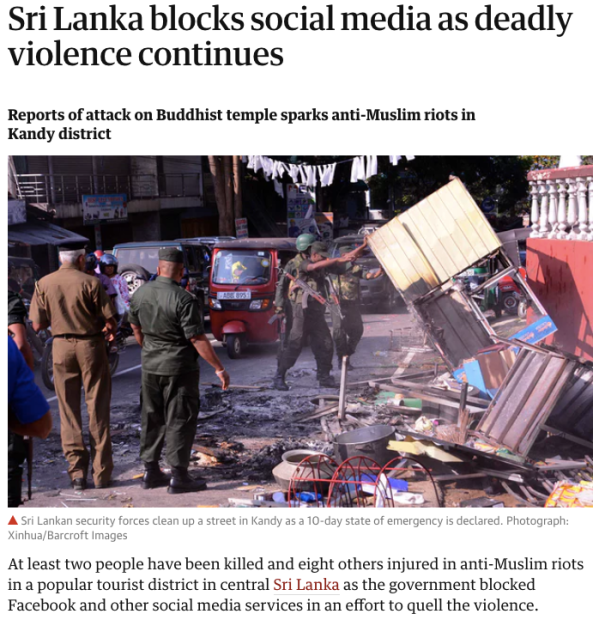 Social media blocked in Sri Lanka